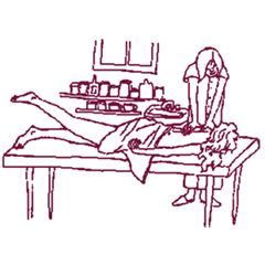 Massage Table Stretch